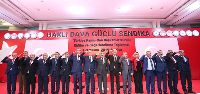 """""""HAKLI DAVA GÜÇLÜ SENDİKA"""" TÜRKİYE KAMU-SEN BAŞKANLAR KURULU TOPLANTISI BAŞLADI"""