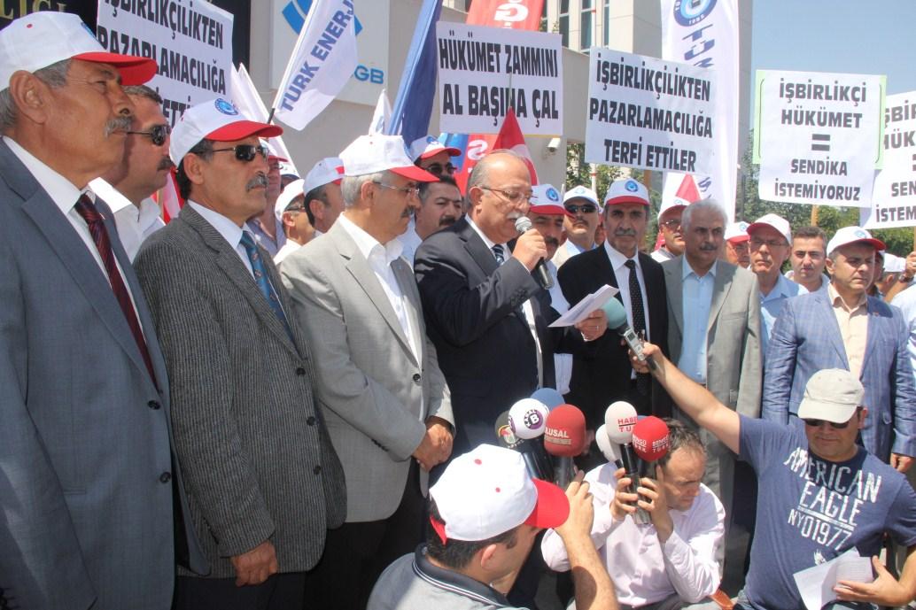 KİRLİ PAZARLIĞI  PROTESTO ETTİK