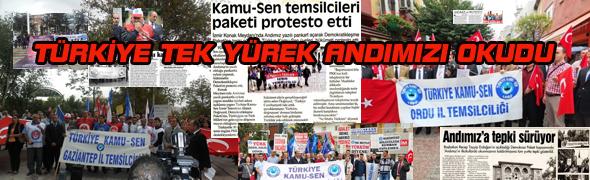 ÜLKE GENELİNDE ANDIMIZIN KALDIRILMASINI PROTESTO ETTİK