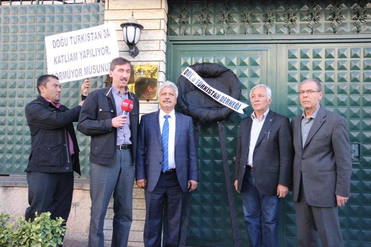 ÇİN MEZALİMİ PROTESTO EDİLDİ