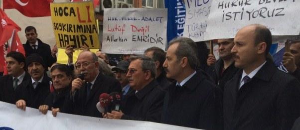 """GENEL BAŞKAN KONCUK, """"MEB YASA TASARISI SİVİL BİR DARBEDİR. 26 ŞUBAT'TA İŞ BIRAKIYORUZ"""" DEDİ."""