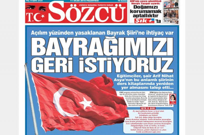 """GENEL BAŞKAN KONCUK'UN """"BAYRAK"""" ŞİİRİ ÇAĞRISINA BÜYÜK DESTEK"""