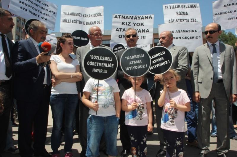 """GENEL BAŞKAN: """"AĞUSTOS'TA ATAMA YAPIN, SÖZLEŞMELİ ÖĞRETMENLİK HÜLYASINDAN VAZGEÇİN"""""""