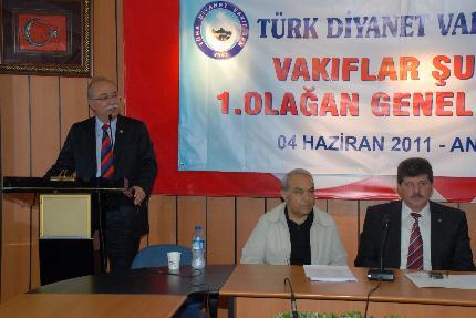 VAKIFLAR ŞUBESİNİN 1. OLAGAN GENEL KURULU YAPILDI.