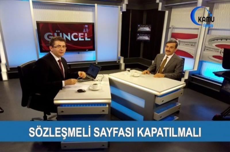 GENEL BAŞKAN ÖNDER KAHVECİ KANAL B'DE GÜNCEL PROGRAMINA KATILDI