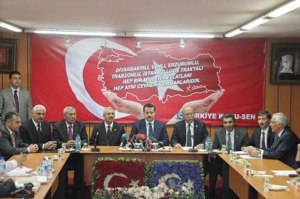BAKAN ÇELİK'TEN KONFEDERASYONUMUZA ZİYARET