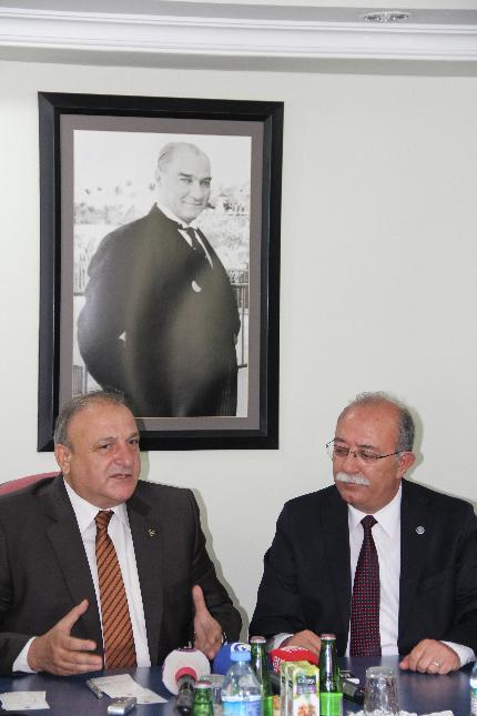 MHP'Lİ OKTAY VURAL ZİYARETİMİZE GELDİ.