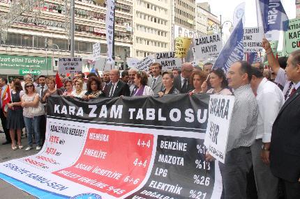 ZAM YAĞMURUNU PROTESTO ETTİK.