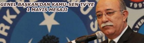 GENEL BAŞKAN KAMU-SEN TV'YE KONUŞTU