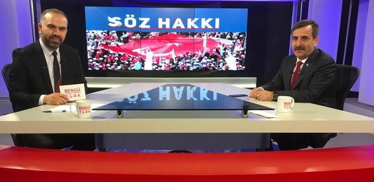 GENEL BAŞKAN ÖNDER KAHVECİ BENGÜ TÜRK TV'YE KONUK OLDU