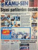 TÜRKİYE KAMU-SEN GAZETESİ 45. SAYISI