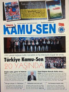 TÜRKİYE KAMU-SEN GAZETESİ 83. SAYISI