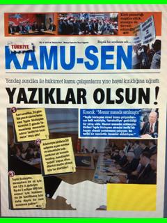 TÜRKİYE KAMU-SEN GAZETESİ 89. SAYISI