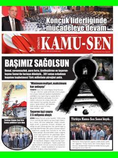 TÜRKİYE KAMU-SEN GAZETESİ 93. SAYISI