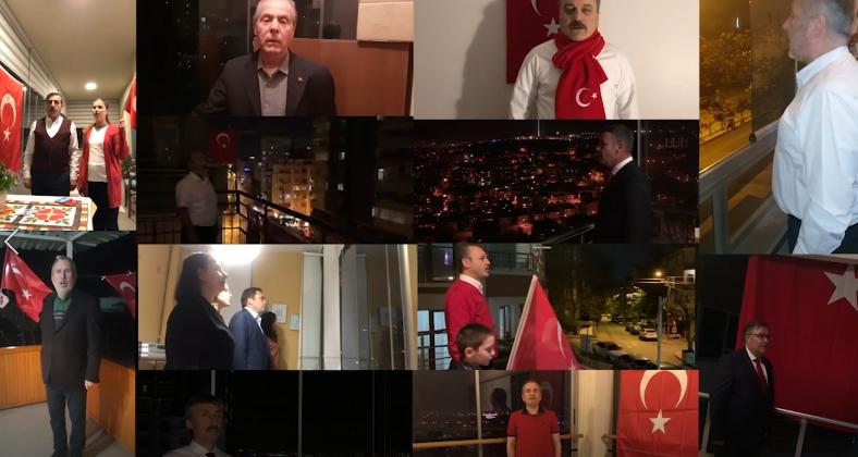Genel Başkanlarımız 23 Nisan'da İstiklal Marşını Evleriniden Okudular
